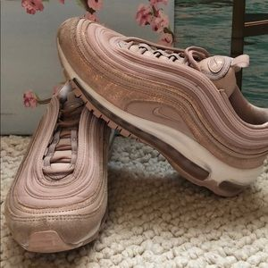 Nike Shoes Air Max 97 Rose Gold Glitter Poshmark